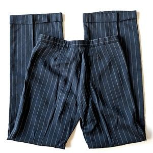 Burberry Navy and White Pinstripe Trouser Pants 42